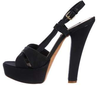 Marc Jacobs Canvas Platform Sandals
