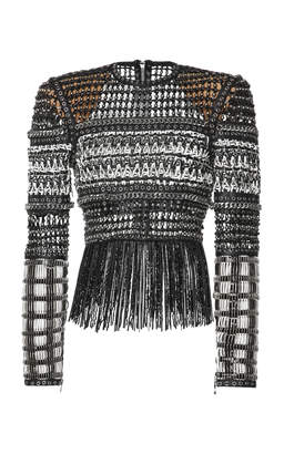 Balmain Braided Fringe Top