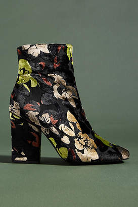 Chio Embossed Velvet Floral Boots
