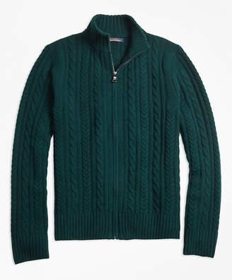 Brooks Brothers Merino Wool Cable Full-Zip