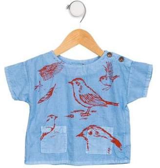 Bobo Choses Girls' Short Sleeve Printed Top w/ Tags