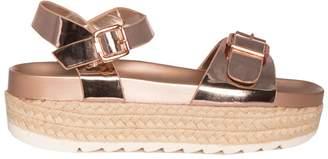 2f3dbfae4893 Missy Empire Missyempire Nasmin Rose Gold Patent Platform Sandals