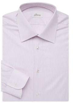 Brioni Striped Regular-Fit Dress Shirt