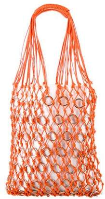 Paco Rabanne Woven Ring Tote