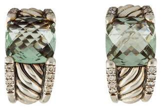 David Yurman Prasiolite & Diamond Cable Earrings