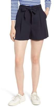 Nordstrom Signature Paperbag Waist Linen & Cotton Blend Shorts