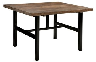 Alaterre Pomona Metal and Reclaimed Wood Dining Table, Rustic Natural