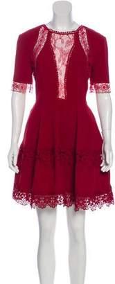 Nicholas Lace-Accented Mini Dress