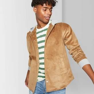 Original Use Men's Casual Fit Longsleeve Corduroy Hooded Shirt Jacket - Original UseTM - Dapper Brown
