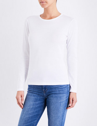 Sunspel Long-sleeve cotton-jersey top $74 thestylecure.com
