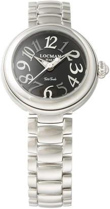 Locman (ロックマン) - LOCMAN ラウンドウォッチ ウィメンズ ケース:ブラック ベルト:シルバー