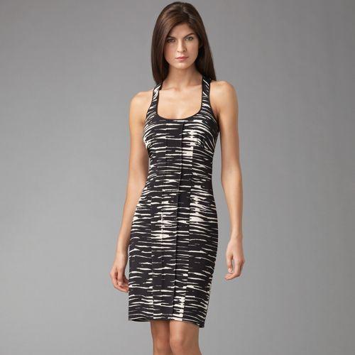 Jay Godfrey Zebra Print Cocktail Dress