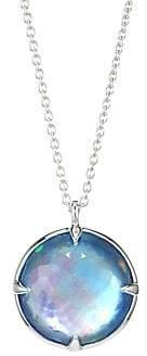 Ippolita Women's Rock Candy® Clear Quartz, Mother-Of-Pearl & Lapis Pendant Necklace