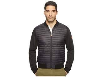 Save the Duck Full Zip Baseball Collar Knit Nylon No Hood Jacket Men's Coat