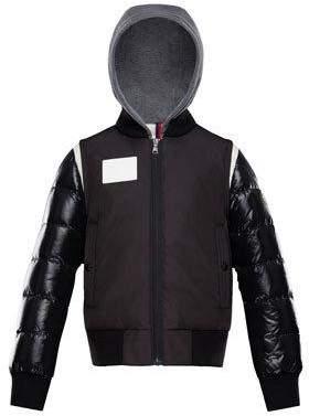 Moncler Montpellier Mixed-Media Hooded Jacket, Size 8-14