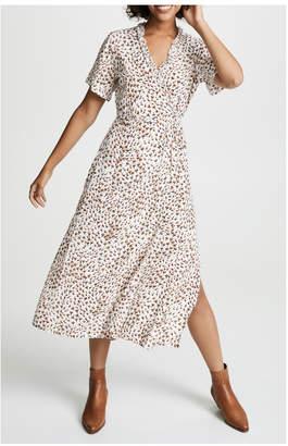 Faithfull The Brand Mara Wrap Dress`