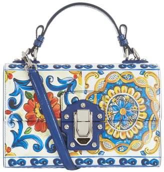 Dolce & Gabbana Leather Lucia Floral Shoulder Bag