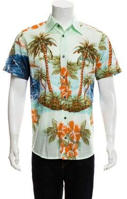 Dolce & Gabbana Hawaiian Print Short Sleeve Shirt