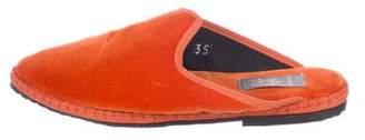 Fifi Venezia Velvet Loafer Mules