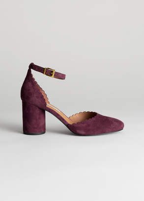 And other stories Scalloped Ankle Strap Pumps