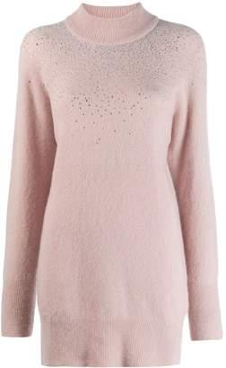 Blumarine rhinestone embellished jumper