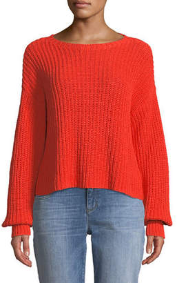 Eileen Fisher Organic Cotton Round-Neck Sweater, Plus Size