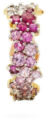 A.N.A KHOURI 18kt gold, diamond & sapphire single earring