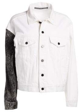 Alexander Wang Two-Tone Denim Jacket
