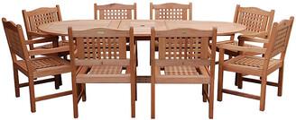 International Home Miami Milano Eucalyptus Extendable Table Set