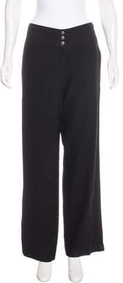 John Galliano Twill Wide-Leg Pants