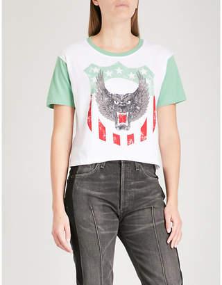The Kooples Animal-print cotton-jersey T-shirt
