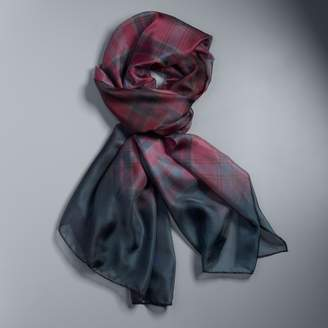 Vera Wang Women's Simply Vera Ombre Plaid Oversized Scarf