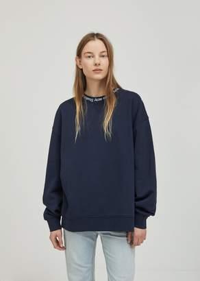 Acne Studios Yana Ribbed Oversized Sweatshirt Midnight Blue
