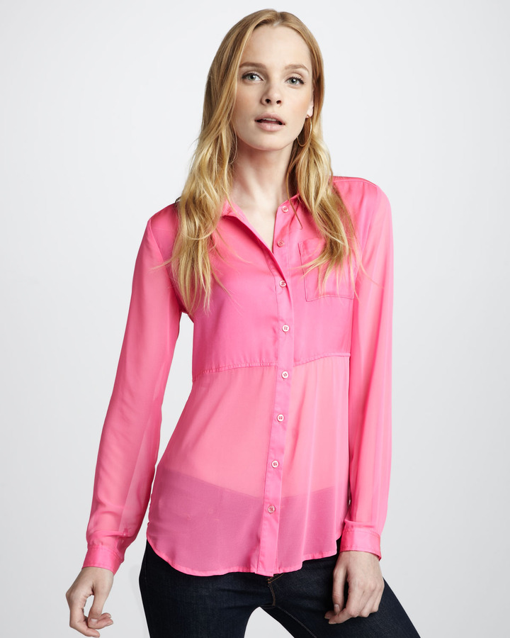 Free People Best of Both Worlds Sheer Blouse (Stylist Pick!)