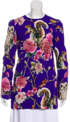 Dolce & Gabbana Enchanted Forest Crepe Tunic