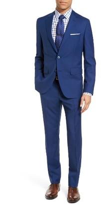 Men's Boss Jewels/linus Trim Fit Solid Wool Suit $795 thestylecure.com