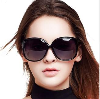 1ea92dd2cdb KHLSHOP Women Polarized Sunglasses Retro Big Round PC Frame Brand Design  Sun Glasse