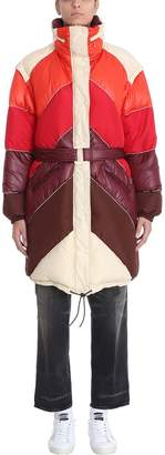 Golden Goose Red Multi-polyester Long Down Jacket