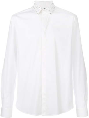 Les Hommes studded collar shirt