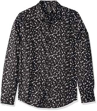 GUESS Men's Long Sleeve Luxe Dot Print Shirt