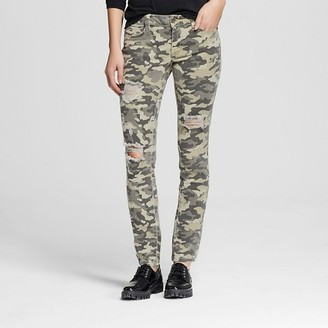 Dollhouse Women's Mid Rise Camo Skinny Jeans-Dollhouse (Juniors') $34.99 thestylecure.com