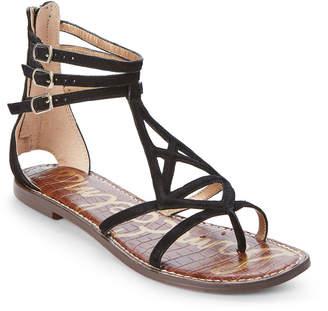 Sam Edelman Black Goldie Flat Gladiator Sandals