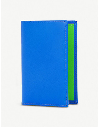 Comme des Garcons Super flourescent leather card holder