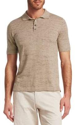 Saks Fifth Avenue COLLECTION Melange Sweater Polo