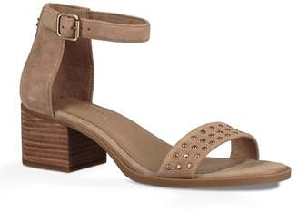 2f4414e795bf Brown Stacked Heel Women s Sandals - ShopStyle