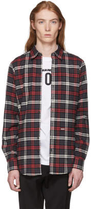 DSQUARED2 Grey and Red Flannel Carpenter Shirt