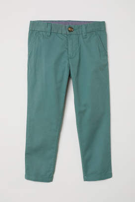 H&M Cotton Chinos - Turquoise