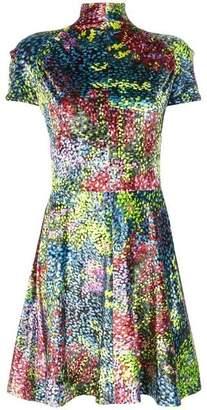 Calvin Klein High Neck Velvet Mini Dress