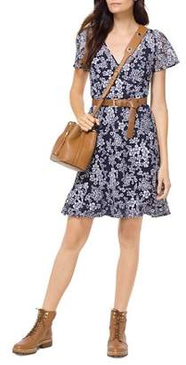 MICHAEL Michael Kors Embroidered Floral A-Line Dress