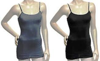 Zenana Outfitters 2 PK Zenana Women's 23.5 inches camisole tank top with shelf bra and adjustable straps